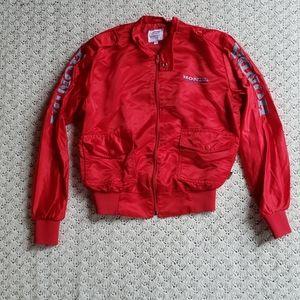 Vtg Honda Hondaline Satin Racing Jacket Full Zip